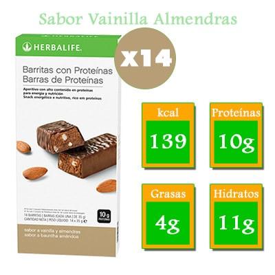 comprar Barritas con proteinas herbalife vainilla